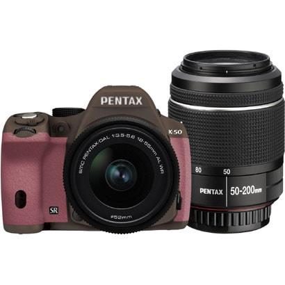 K-50 ダブルズームキット ココアブラウン/ピンク 056 [ボディ+交換レンズ「smc PENTAX-DA L 18-55mmF3.5-5.6AL WR」「smc PENTAX-DA L 50-200mmF4-5.6ED WR」]