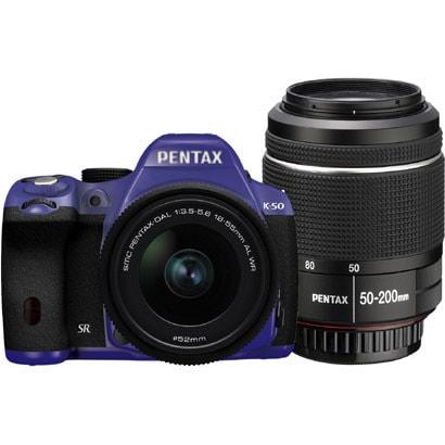 K-50 ダブルズームキット バイオレット/ブラック 082 [ボディ+交換レンズ「smc PENTAX-DA L 18-55mmF3.5-5.6AL WR」「smc PENTAX-DA L 50-200mmF4-5.6ED WR」]
