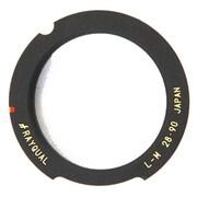 LMリング新型(ブラック半欠きタイプ 無限ロックレバー付きレンズ対応)28/90L