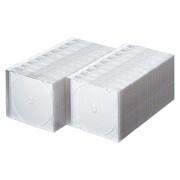 FCD-PU100MW [DVD/CDケース(1枚収納) 100枚セット マットホワイト]