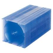 FCD-PU50BL [DVD/CDケース(1枚収納) 50枚セット クリアブルー]