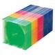 FCD-PU50MX [DVD/CDケース(1枚収納) 50枚セット 5色ミックス]
