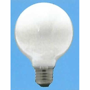 G125 E26 110V-40W(S) [白熱電球 ボール電球 E26口金 110V 40W形 125mm径 ホワイト]