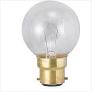 G40 B22D 100/110V-40W(C) [白熱電球 ボール電球 B22D口金 100~110V 40W形 40mm径 クリア]