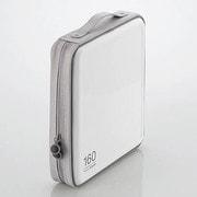 CCD-H160WH [CD/DVDケース セミハード ファスナー付 160枚入 ホワイト]