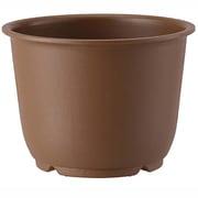 陶鉢 輪型3.5号 きん茶