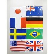 国旗柄ステッカー8ヵ国セット