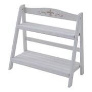 KPS-69662(WH) [ガーデンマスター 木製プランタースタンド (幅69)2段 ホワイト]