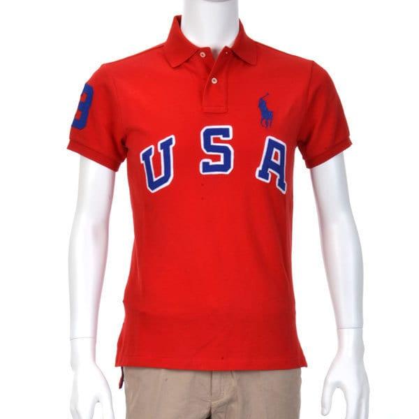 ポロシャツ 半袖 XS 065 RED [XSサイズ レッド]