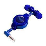 MM-HP120BL [ステレオイヤホン 巻き取り式 ブルー]