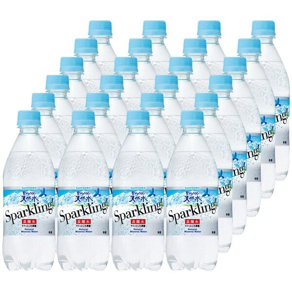 サントリーフーズ 南アルプス南アルプスの天然水 スパークリング 500mlペット×24本 [炭酸飲料水]
