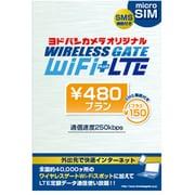 YD-480-micro-SMS [WIRELESS GATE WiFi+LTE 480円プラン 下り最大250kbps データ通信使い放題 ヨドバシカメラオリジナル microSIM SMSサービス]