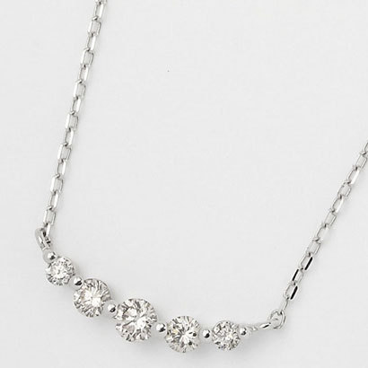 FPN181201W [ネックレス 18Kホワイトゴールド ダイヤモンド0.3ct]
