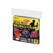 EDC-CME1-10D [CD/DVD用ソフトケース 10枚 黒]