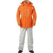 DR-9004 PVCオーシャンサロペットレインスーツ [スーツ オレンジ S]