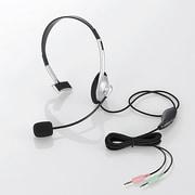 HS-HP21SV [ヘッドセット 片耳小型オーバーヘッドタイプ 1.8m シルバー]