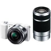 ILCE-5100Y W [α5100 (アルファ5100) ダブルズームレンズキット ボディ+交換レンズ 「E PZ 16-50mm F3.5-5.6 OSS」「E 55-210mm F4.5-6.3 OSS」 ホワイト]