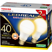 LDA5L-G/40W-2P [LED電球 E26口金 電球色 485lm E-CORE(イー・コア) LED REAL 2個入]