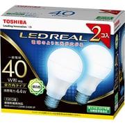 LDA4N-G/40W-2P [LED電球 E26口金 昼白色 485lm E-CORE(イー・コア) LED REAL 2個入]