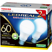 LDA7N-G/60W-2P [LED電球 E26口金 昼白色 810lm E-CORE(イー・コア) LED REAL 2個入]