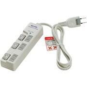 WBS-LU301B(W) [LEDスイッチ付タップ耐雷サージ 3個口 1m]