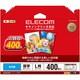エレコム 光沢写真用紙光沢紙厚手キャノン用L判400枚 EJK-CGNL400 1セット(3個)