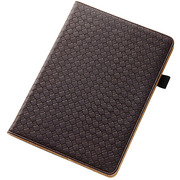 RT-PA6LC3-DK [iPad Air 2用 フラップタイプ・メッシュレザージャケット 合皮タイプ ダークブラウン]