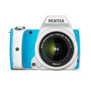 K-S1 Sweets Collection レンズキット ブルークリームソーダ [ボディ+交換レンズ「smc PENTAX-DA L18-55mm F3.5-5.6AL(ホワイト)」]