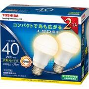 LDA5L-G-K/40W-2P [LED電球 E26口金 電球色 485lm E-CORE(イー・コア) 2個入]