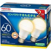 LDA8L-G-K/60W-2P [LED電球 E26口金 電球色 810lm E-CORE(イー・コア) 2個入]