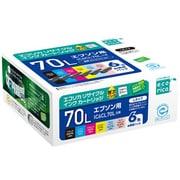 ECI-E70L-6P [IC6CL70L 互換リサイクルインクカートリッジ 6色パック]
