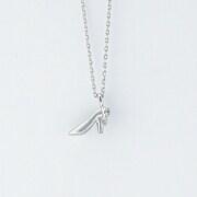 K10WG ダイヤモンド 0.005ct ペンダントネックレス(ハイヒール)