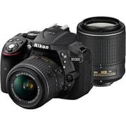 D5300 ダブルズームキット2 ブラック [ボディ+交換レンズ「AF-S DX NIKKOR 18-55mm f/3.5-5.6G VR II」「AF-S DX NIKKOR 55-200mm f/4-5.6G ED VR II」]