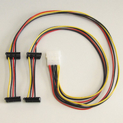 D4-3505SAB [内部電源分岐ケーブル HDD用電源4分岐ケーブル 55cm/41.5cm]