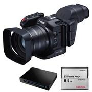 XC10MKIT [4K対応 光学10倍ズーム DIGIC DV 5搭載 ビデオカメラ+メモリーカードキット(サンディスク エクストリームプロ CFast2.0カード 64GB+CFast2.0カードリーダー/ライター)]