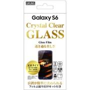 RT-SC05GFG/CK [Galaxy S6用 貼り付け簡単 光沢 防指紋ガラスフィルム]