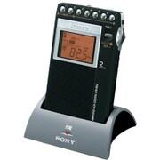 ICF-R354MK C [充電キット付き 片耳巻取り FM/AM シンセサイザーラジオ 名刺サイズ ワイドFM対応]