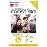 COMST SIM (VISITOR SIM 1GB/7日間) [プリペイド式LTE対応データ通信専用SIMカード(SIMアダプタセット標準同梱)]