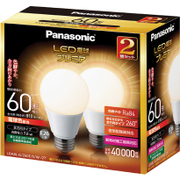 LDA8LGZ60ESW2T [LED電球 E26口金 電球色相当 810lm 屋外器具対応 断熱材施工器具対応 2個入]