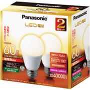 LDA8LGK60ESW2T [LED電球 E26口金 電球色相当 810lm 屋外器具対応 断熱材施工器具対応 2個入]