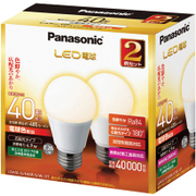 LDA5LGK40ESW2T [LED電球 E26口金 電球色相当 485lm 屋外器具対応 断熱材施工器具対応 2個入]