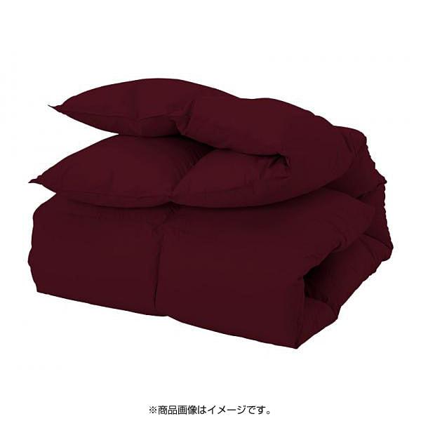 YS-3702 [新20色羽根掛布団 セミダブル ワインレッド]