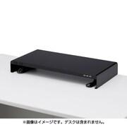 MR-LC203BK [電源タップ+USBポート付き机上ラック W600×D300mm ブラック]