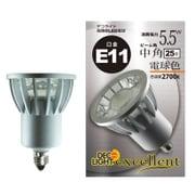 LDR6L-M-E11/27 [LED電球 E11口金 電球色 540lm 中角]