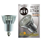 LDR6L-W-E11/27 [LED電球 E11口金 電球色 540lm 広角]