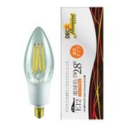 LDC3L-E12/C/27/B/D [LED電球 E12口金 2700K 250lm 調光 デコフィラメントベーシックキャンドルクリア]
