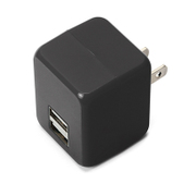 PG-UAC21A06BK [USB電源アダプタ 2ポート 2.1A キューブタイプ ブラック]