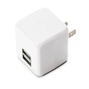 PG-UAC21A07WH [USB電源アダプタ 2ポート 2.1A キューブタイプ ホワイト]