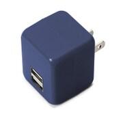 PG-UAC21A10BL [USB電源アダプタ 2ポート 2.1A キューブタイプ ブルー]