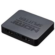 GH-HSPA2-BK [HDMIスプリッタ 2ポート ABS ブラック]